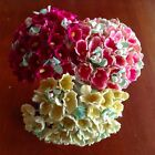Vintage Millinery Flowers Forget Me Not for Doll Pink or Yellow or Rose Kawaii