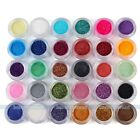12/30 Colors Assorted Makeup Mineral Eye Shadow Pigments Glitter Art Cosmetics