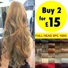 Hair Extensions Real Good Premium Full Head Clip in Hair 8 Piece Human Favored