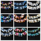 New Arrival 10pcs 13x8mm Square Faceted Glass Crystal Charm Spacer Bead 23 Color