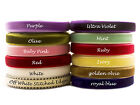 """10 yards Velvet Ribbon Trim Sewing Millinery 10mm 3/8"""" 22 Colours"""