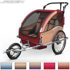 Bike Bicycle Trailer Carrier Stroller Suspension Jogger Kids Children Cycling