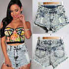 New Fashion Sexy Women Vintage High Waist Shorts Hole Denim Jeans Shorts Pants