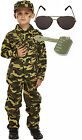 Army Boys Soldier Action Man Fancy Dress Costume Outfit Aviators Dog Tag 4-12