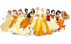 Disney Princess canvas Picture,Original or WITH GLITTER- DIAMOND DUST! Wall art