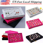 NEW Velvet Jewelry Earring Ring Display Organizer Box Tray Holder Storage case