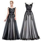 Womens Long Vintage BLACK Formal Evening Dress Cocktail Prom Homecoming Dresses