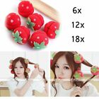 Womens Cute Strawberry Hair Care Foam Soft Round Sponge Ball Curlers Roller