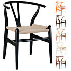 Modern Dining Chair Danish Arm Chair Mid Century Kitchen Cafeteria Wooden Chair