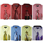 size 15 shirt - Men's Dress Shirt with Matching Tie And Handkerchief Set 8 Colors Size 15~20