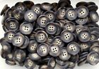 18mm 23mm 25mm Brown Beige Animal Effect Swirl Coat 4 Hole Satin Buttons W48-50