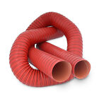 90mm 1m 2 PLY Red Silicone Ducting