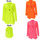 Women Celebrity Style Neon Blazer Jacket Ladies Plain Skort Skirt 2 Piece Suit