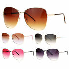 SA106 Womens Minimal Thin Metal Oversize Butterfly Sunglasses
