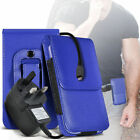Premium PU Leather Belt Pouch Holster Case & Mains Charger For HTC Butterfly 3