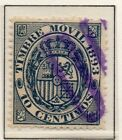 Spain Fiscal Timbre Movil 1882-1903 Early Issue Fine Used 10c. 060083