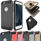 Brushed Shockproof Hybrid Rubber Fashion Hard Case Cover For iPhone 4 4s 7 Plus