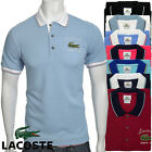 Men's Rene Lacoste Short Sleeve Tennis Golf Polo Shirt 100% Cotton Pique Collar