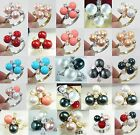 noblest 8mm white pink red yellow blue black shell pearl jade 18 KGP ring