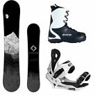 New 2016 System MTN Snowboard +Summit Mens Bindings + APX Boots Complete Package