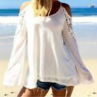 Sexy Womens Summer Long Sleeves Off Shoulder Tee Shirt Blouse Casual Tops S-XL