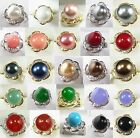 12mm white pink red gray black yellow coffee blue green shell pearl jade ring