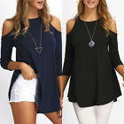 Women Ladies Long Sleeve T Shirt Blouse Top New Casual Loose Tee Tops Black/Navy