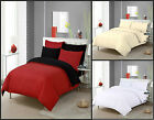 Plain Dyed Duvet Set w/ Pillow Case Red/Black White Cream Single Double King