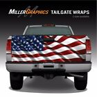 American Flag Waving 3 Truck Tailgate Vinyl Graphic Decal Wraps