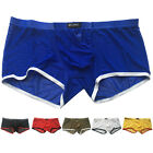 Mens Low Rise Trunks Underwear Shorts Boxer Briefs Swimming Mini Hot Underpants