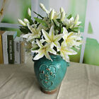 2016 New Rose Silk Lily Flowers Bouquet Craft Bridal 3 Heads Decoration JEW Gift
