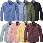 Charles Wilson Men's Cotton Long Sleeve Laundered Oxford Casual Shirt New 2017