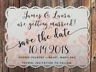 Personalised White Romantic Heart Wedding Save the Date Cards with Envelopes