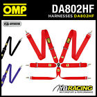 DA802HF OMP 802HF PROFESSIONAL RACING HARNESS 6-POINT HANS ONLY FIA APPROVED
