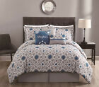 11 Piece Inspire Teal/Gray Bed in a Bag Set