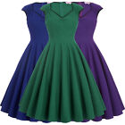 BP Retro Vintage Party Dress 50s Pinup Swing Prom Cocktail Evening Sleeveless