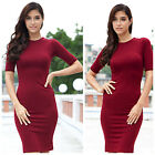 long style Short Sleeve Shrink Waist Package Hip Women Dress best price