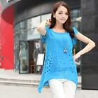 Fashion  Women's Asymmetric Flouncing T-Shirt Chiffon Blouse Short Sleeve Tops