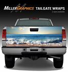 Beach Ocean Waves Wood Truck Tailgate Vinyl Graphic Decal Wrap