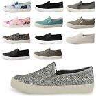 WOMENS LADIES DOLCIS SLIP ON PLIMSOLLS SNEAKERS SKATER TRAINERS PUMP SHOE SIZE