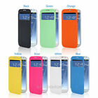 Hot Flip View Window S-View Protector Case Cover For Samsung Galaxy S4 I9500