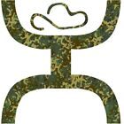 HOOey Hands Up HOOey Camo Small & Large Sticker