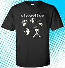 New SLOWDIVE Indie Band Logo Men's Black T-Shirt Size S to 3XL image