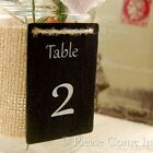 Handmade Blackboard/Chalkboard Wedding Table Numbers with Silver/Gold Paint