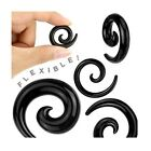 70pcs Spiral Tapers Stretchers Black/White Silicone Wholesale Job Lot Car boot