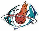 Miami Fan Heat Marlins Dolphins Panthers Vinyl Sticker Decal on Ebay