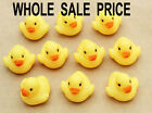 10-50 PCS Small Kids Bath Rubber Duck Toys Bath time Fun Time Floating Water NEW