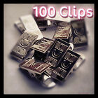 Metal Badge Clips Craft Dummy Clip Packs of:5,10, 20, 25,50,100, 200, 500 & 1000