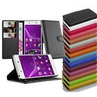 Wallet Case Cover BOOK Style for SONY XPERIA Protection Etui Kick Stand Flip