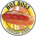 HOT DOGS Sticker Printed UV Laminated Food, Catering, Cafe, or Resturant